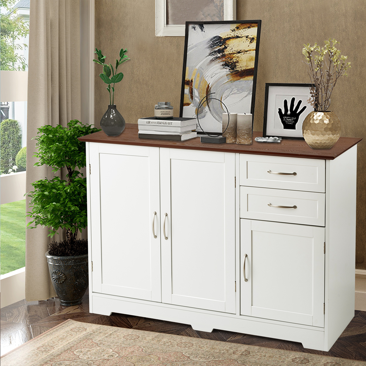 buffet storage cabinet console table kitchen sideboardd