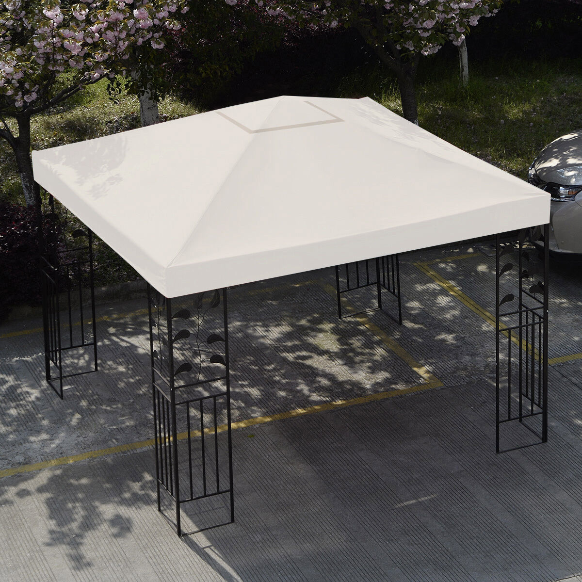 10-039-X-10-039-Gazebo-Top-Cover-Patio-Canopy-Replacement-1-Tier-or-2-Tier-3-Color-New thumbnail 5