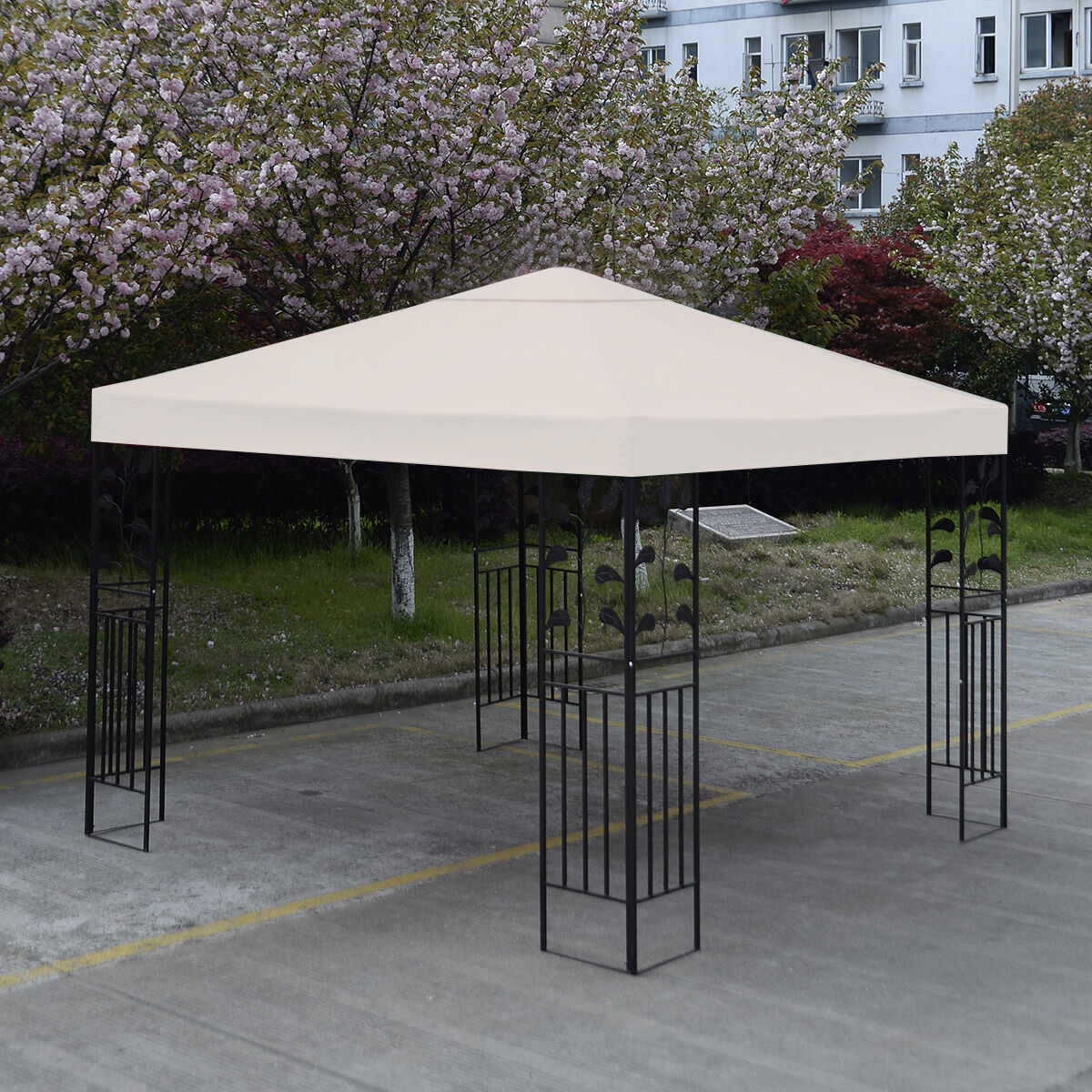 10-039-X-10-039-Gazebo-Top-Cover-Patio-Canopy-Replacement-1-Tier-or-2-Tier-3-Color-New thumbnail 6