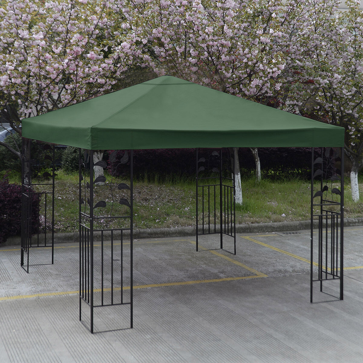 10-039-X-10-039-Gazebo-Top-Cover-Patio-Canopy-Replacement-1-Tier-or-2-Tier-3-Color-New thumbnail 9
