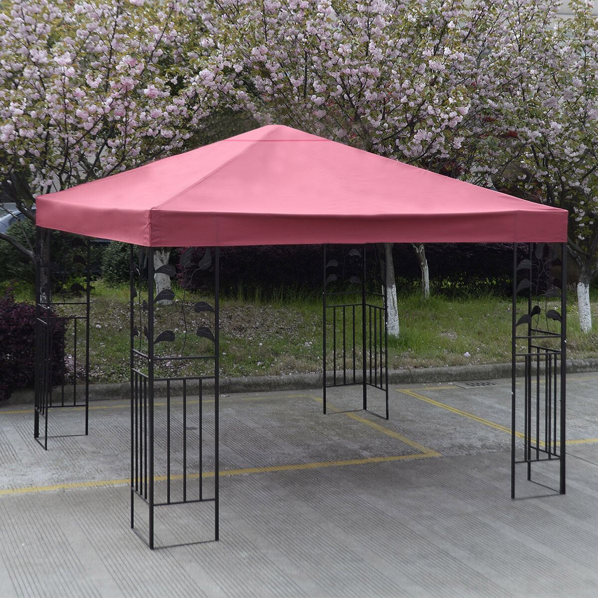 10-039-X-10-039-Gazebo-Top-Cover-Patio-Canopy-Replacement-1-Tier-or-2-Tier-3-Color-New thumbnail 12