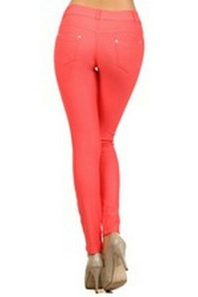 Women-039-s-Classic-Solid-Cotton-Blend-Jeggings-Soft-Skinny-Stretch-Pants thumbnail 14