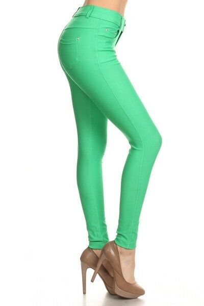Women-039-s-Classic-Solid-Cotton-Blend-Jeggings-Soft-Skinny-Stretch-Pants thumbnail 22
