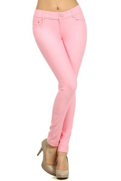 Women-039-s-Classic-Solid-Cotton-Blend-Jeggings-Soft-Skinny-Stretch-Pants thumbnail 25