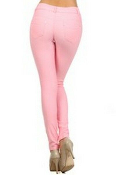Women-039-s-Classic-Solid-Cotton-Blend-Jeggings-Soft-Skinny-Stretch-Pants thumbnail 26