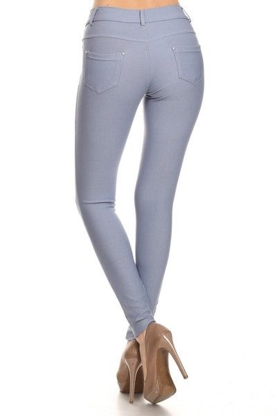 Women-039-s-Classic-Solid-Cotton-Blend-Jeggings-Soft-Skinny-Stretch-Pants thumbnail 39