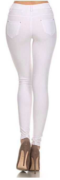 Women-039-s-Classic-Solid-Cotton-Blend-Jeggings-Soft-Skinny-Stretch-Pants thumbnail 45