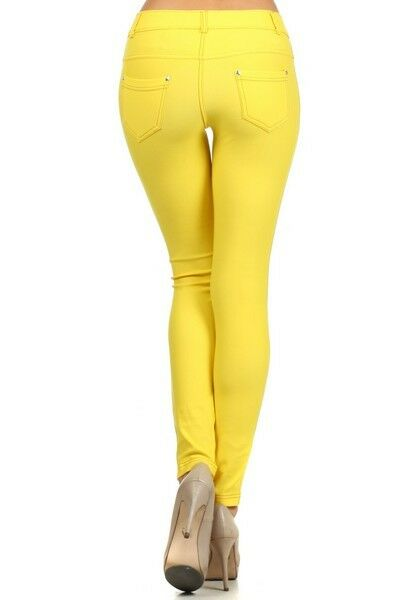 Women-039-s-Classic-Solid-Cotton-Blend-Jeggings-Soft-Skinny-Stretch-Pants thumbnail 48
