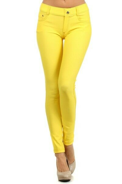 Women-039-s-Classic-Solid-Cotton-Blend-Jeggings-Soft-Skinny-Stretch-Pants thumbnail 47