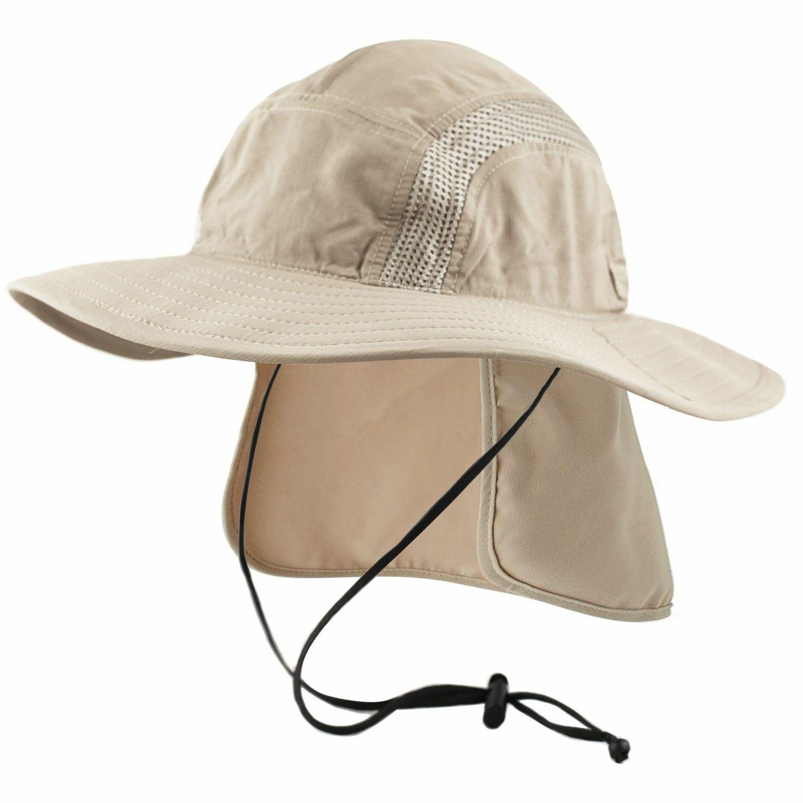 76de19b10 Safari Bucket Hat UPF-50 Sun Protection w/ Mesh Crown Crushable Neck ...