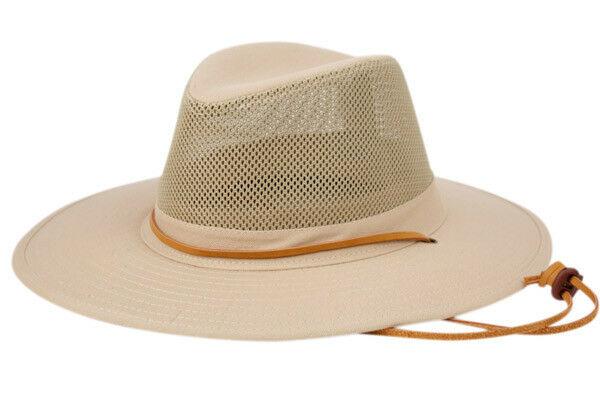 36bdd0f90 Wide Brim Bucket Hat UPF-50 Sun Protection w/ Mesh Crown Breathable ...