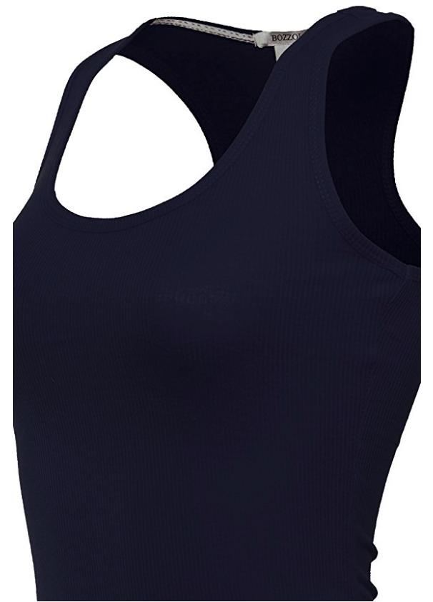 Women-039-s-Basic-Solid-Ribbed-Racerback-Tank-Top-Long-Stretchy thumbnail 28