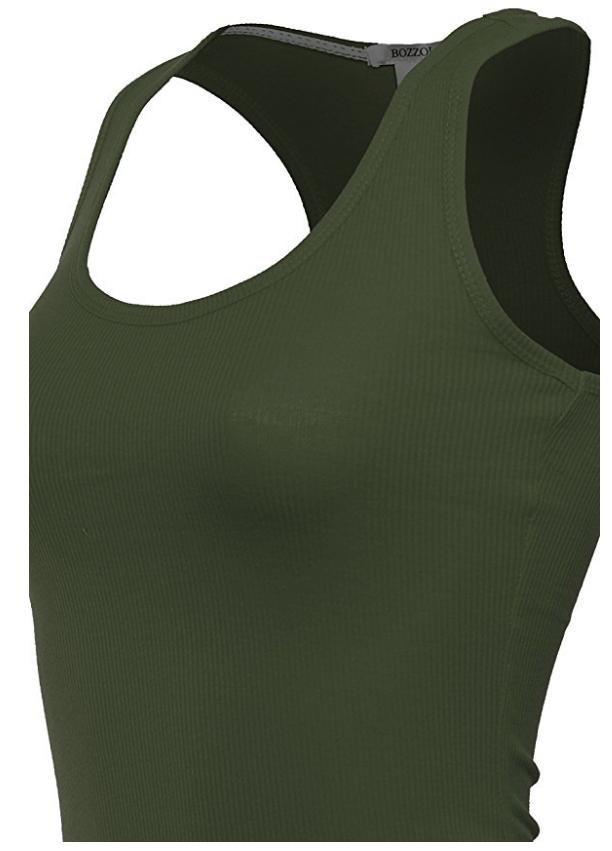 Women-039-s-Basic-Solid-Ribbed-Racerback-Tank-Top-Long-Stretchy thumbnail 31