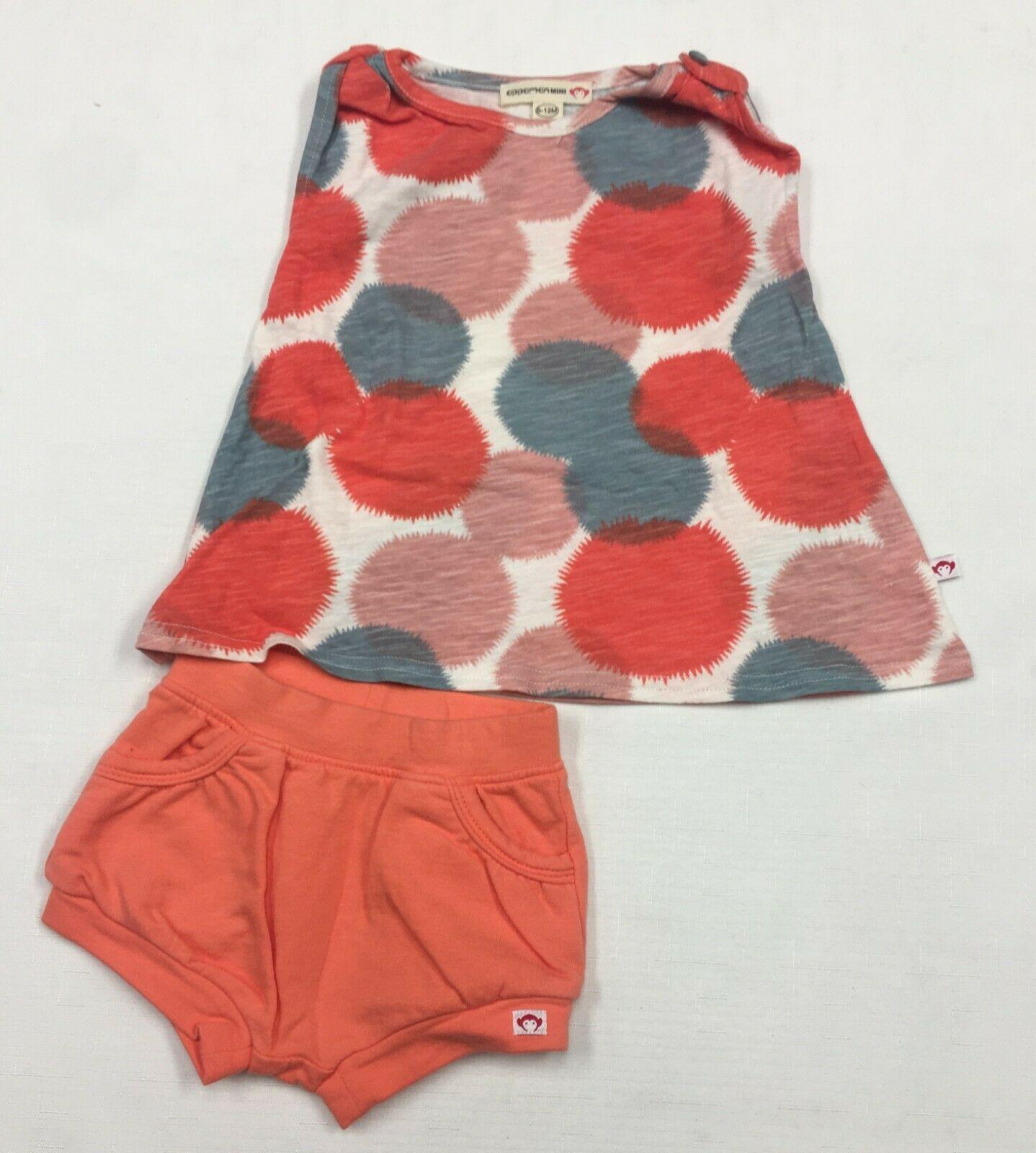 Appaman Mini Baby 2 Piece Set Long Sleeve Henley Shirt Pants Grey Gray Blue