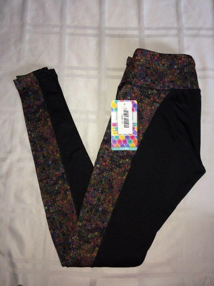 ef441f6be41 New LuLaRoe Jordan Workout pants Leggings XS black purple pink green  geometric