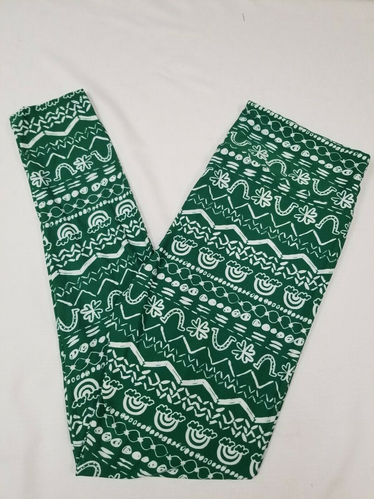 3171fe45a766d New LuLaRoe Magically You Leggings TC Tall & Curvy St Patrick's green white