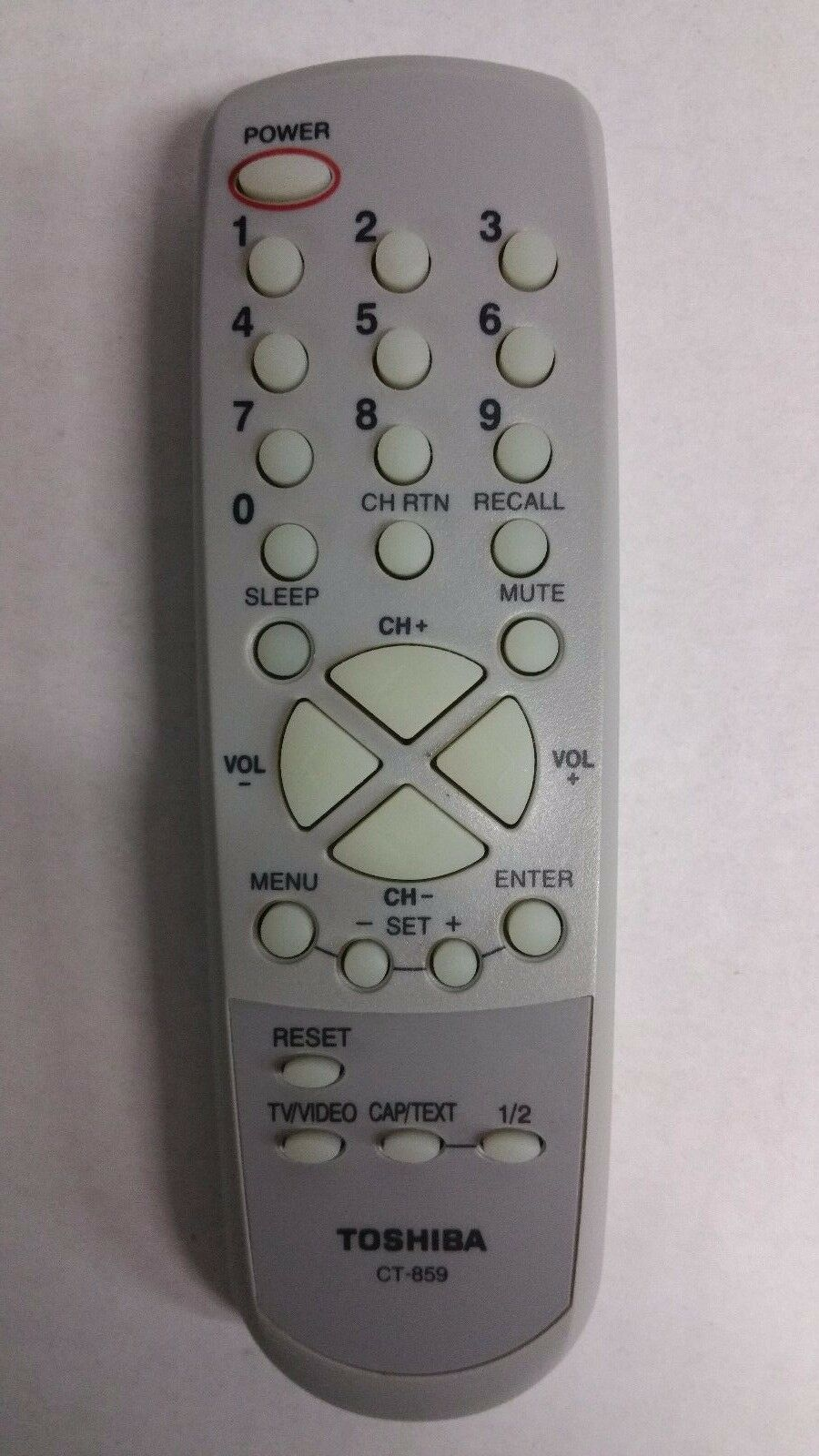 Details about Original Toshiba 19A25 19A25C 19A26 20AS26 MD2626 TV Remote  Control