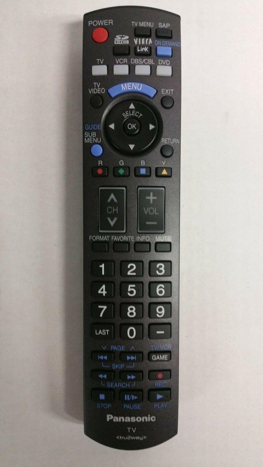 New Original Panasonic N2QAYB000178 TV Remote Control