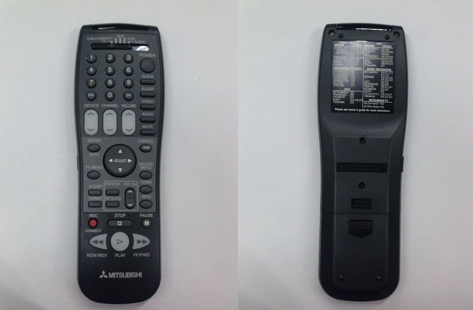 NEW MITSUBISHI ORIGINAL TV REMOTE CONTROL WD-73838 WD-82738 WD-82838