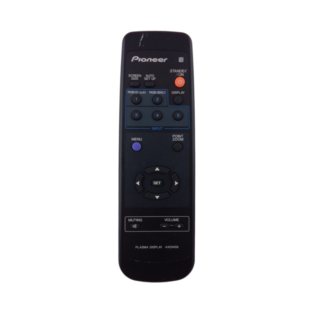PIONEER AXD1459 PLASMA DISPLAY  REMOTE CONTROL