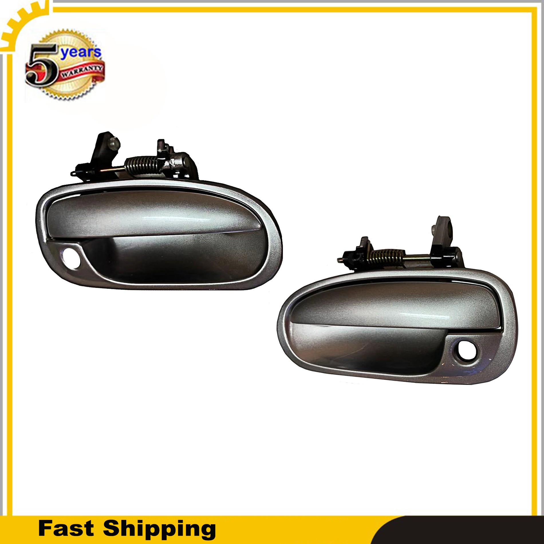 For Honda Civic 96-2000 Silver NH623 Outside Door Handle Front Left Driver Side