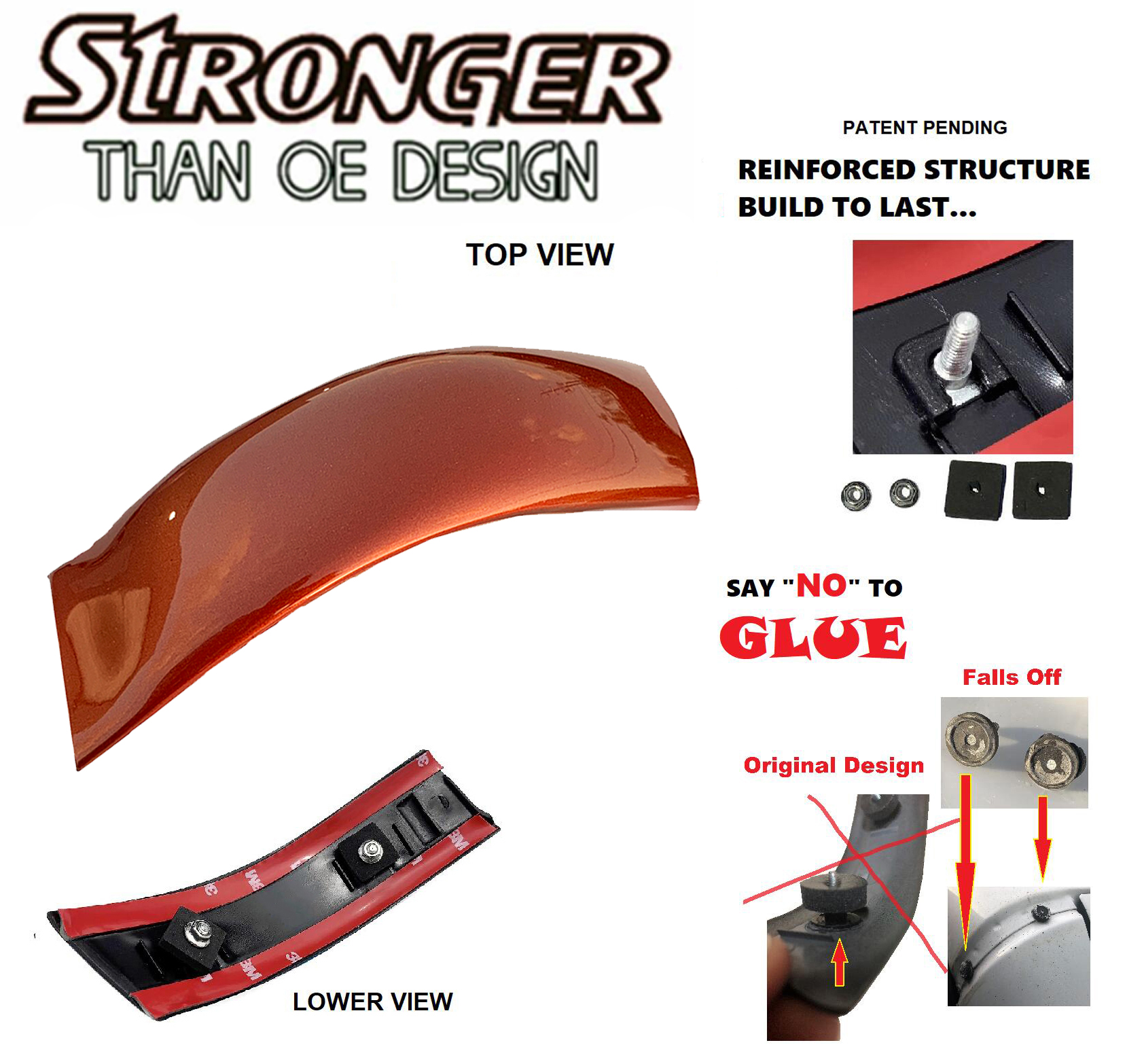 Right Passenger Roof Molding YC3Z2551728PTM For 99 00-07 Ford Super Duty Upgrade
