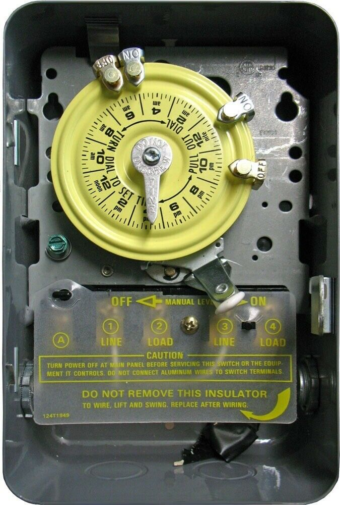 NEW INTERMATIC T104 40A-277V MECHANICAL INDOOR TIME TIMER SWITCH USA  6371595