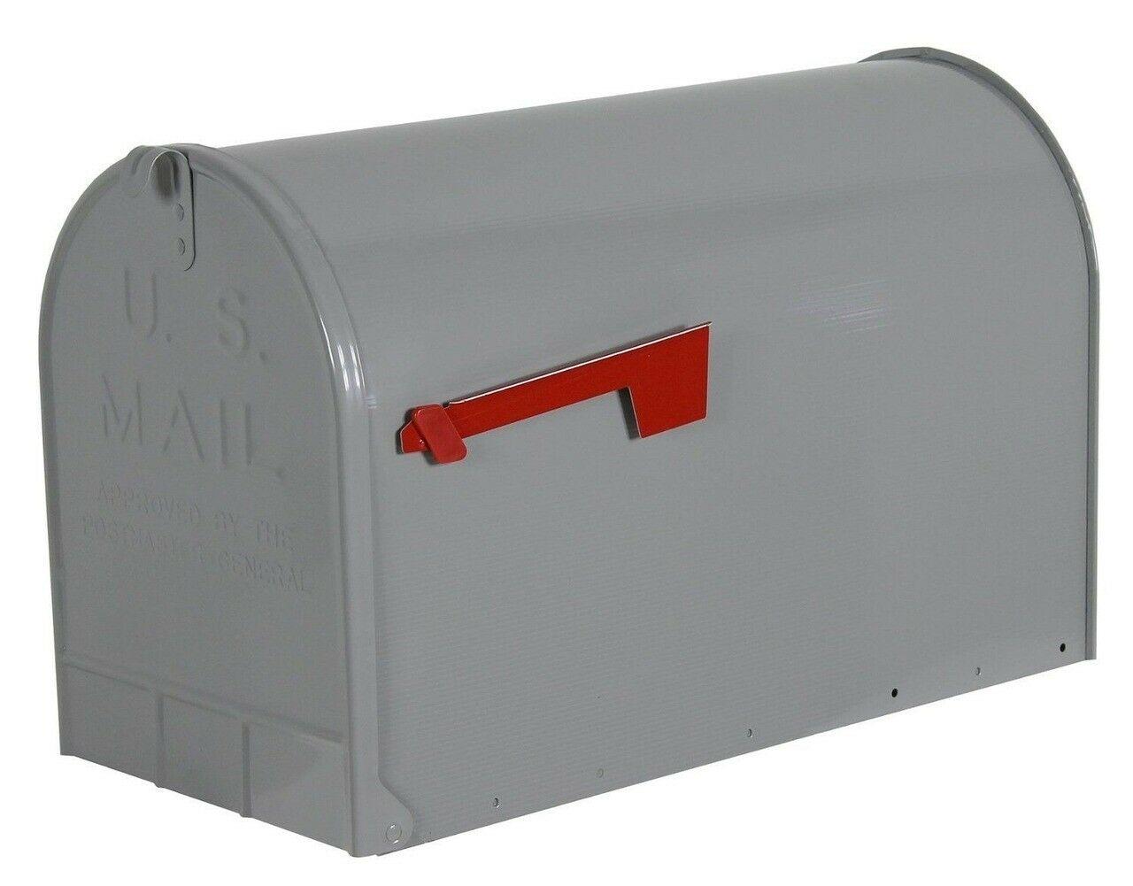 Solar ST200B00 Group Jumbo Steel Rural Mailbox Black