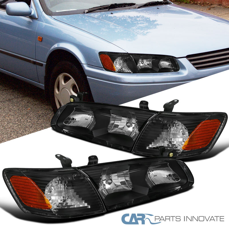 For Toyota 00-01 Camry Clear Lens Headlights Corner Turn Signal Lamps Left+Right Auto Parts and Vehicles Car & Truck Lighting & Lamps
