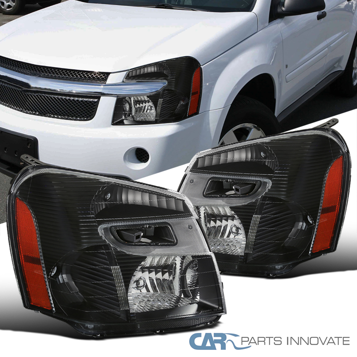 New Pair Set for 05-09 Chevy Equinox Headlights Headlamps Left /& Right 2005-2009