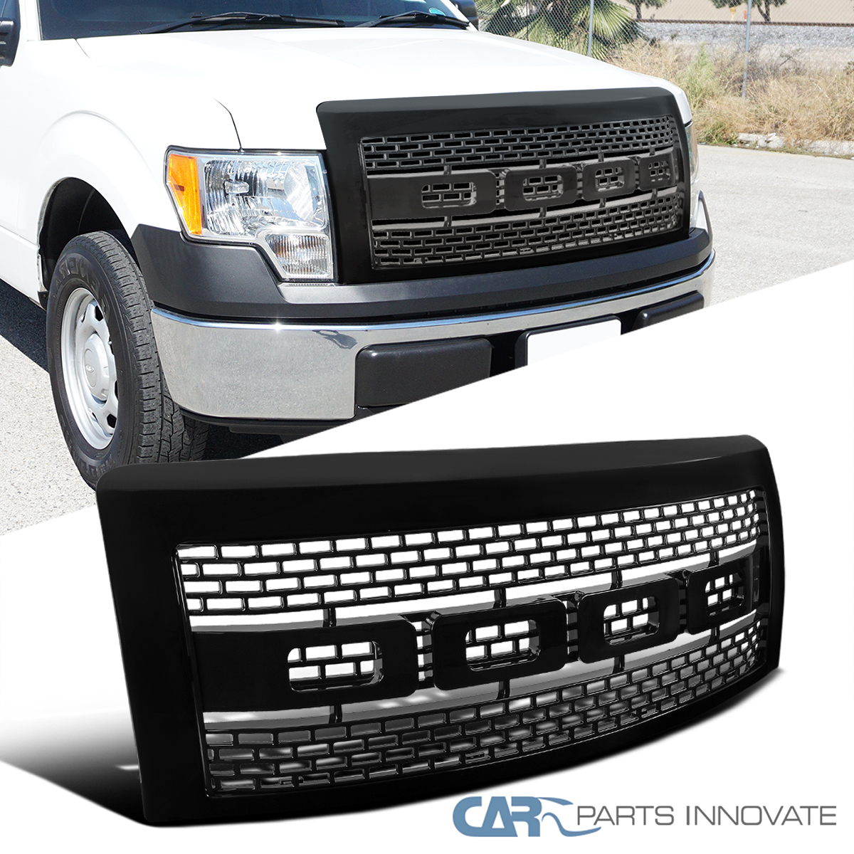 Gray Seven Sparta Front Grill for Ford F150 2009-2014 Raptor Style Grille