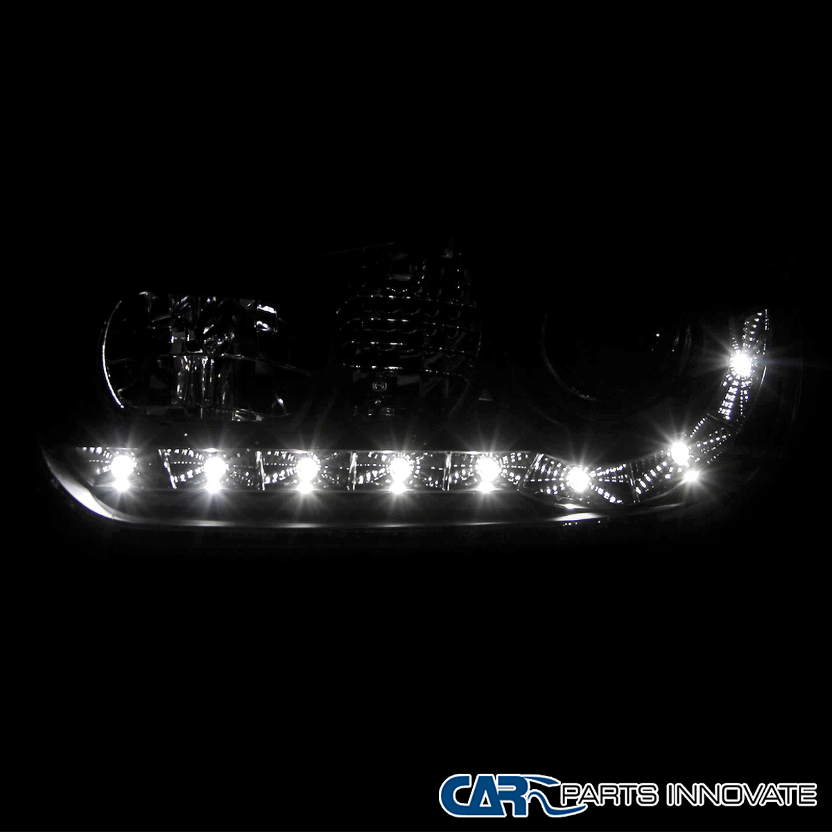 Details about For 99-06 VW Golf Mk4 GTI R32 Black LED DRL Projector  Headlights+8-LED Fog Lamps