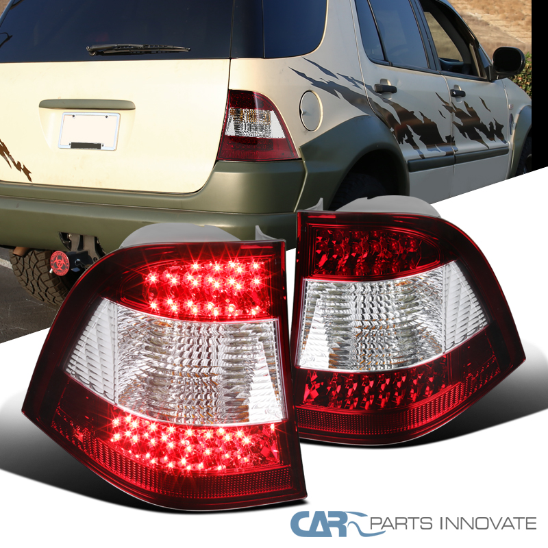 Fits 98-05 Benz W163 ML-Class Smoked Clear Tail Lights Ml320 Ml430