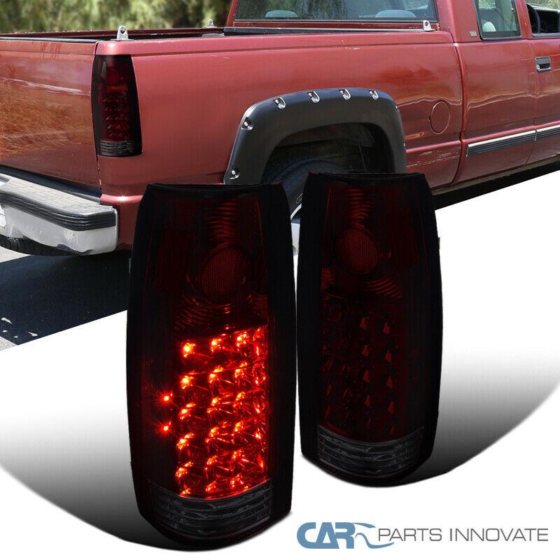 Chevy GMC 88-98 C//K Series Suburban Yukon Tahoe Red Smoke Rear Tail Brake Lights