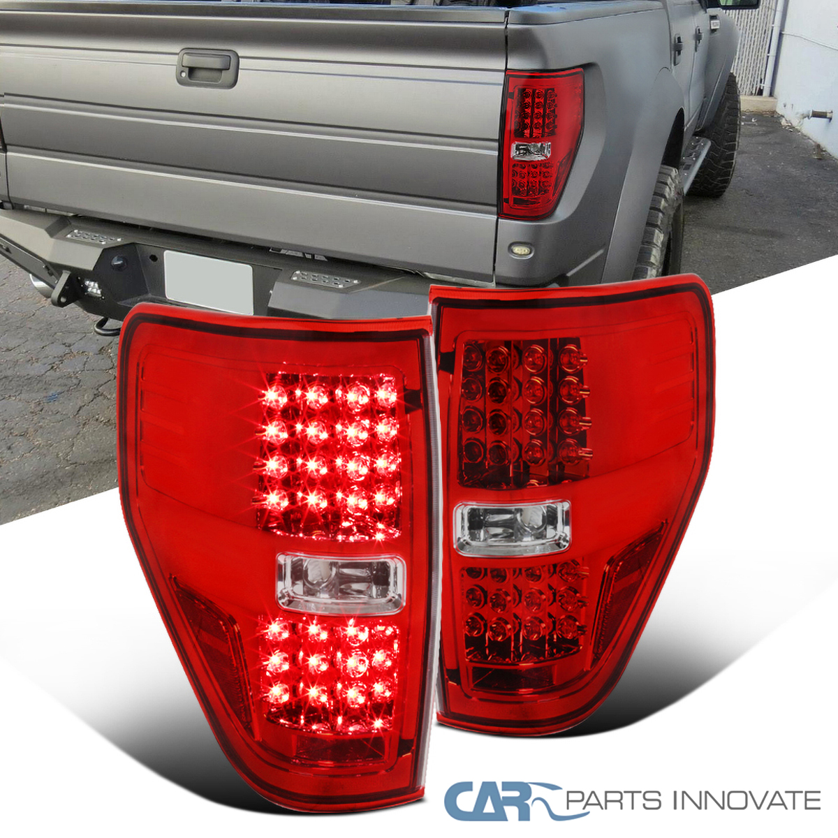 Details About Ford 09 14 F150 F 150 Pickup Red Led Tail Lights Rear Brake Lamps Left Right