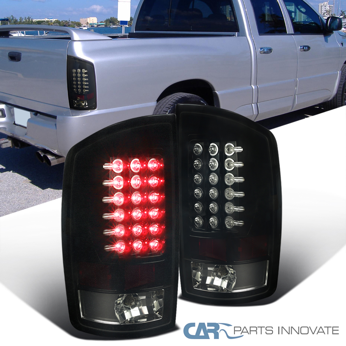 For 2003 04 05 06 07 08 Dodge Ram 1500 2500 3500 Black Gloss Color Gas Cap Cover