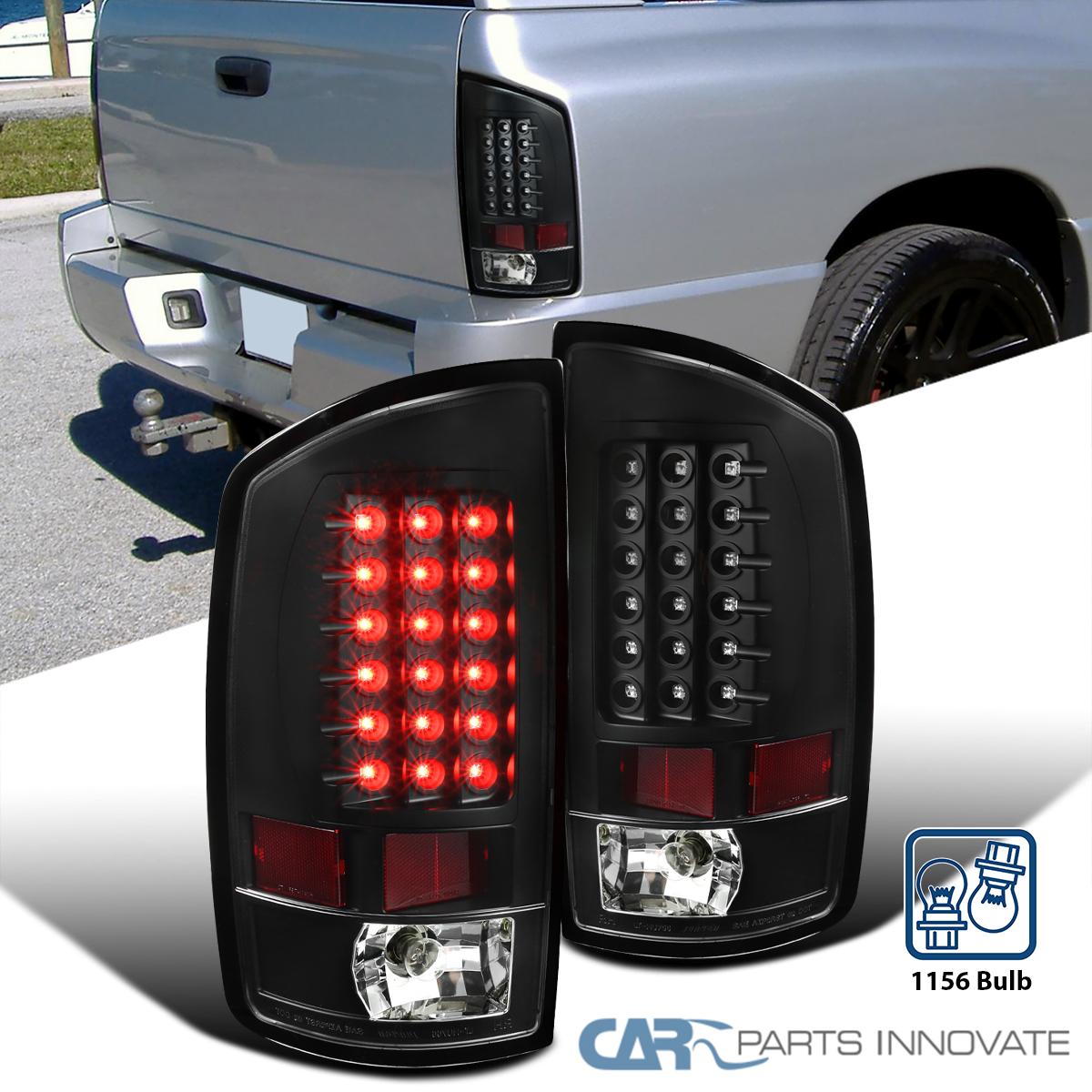 Black 2002-2006 Dodge Ram 1500 2500 3500 Pickup Black LED Tail Lights Left+Right