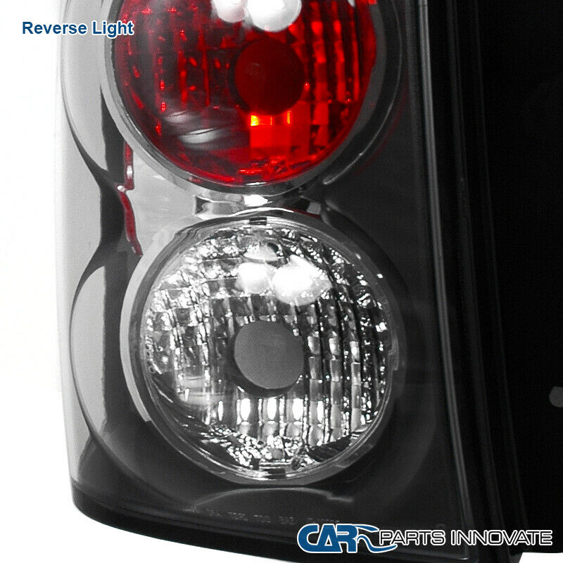 Details about Chevy 02-09 Trailblazer Black Parking Tail Lights Brake Rear  Lamps Left+Right
