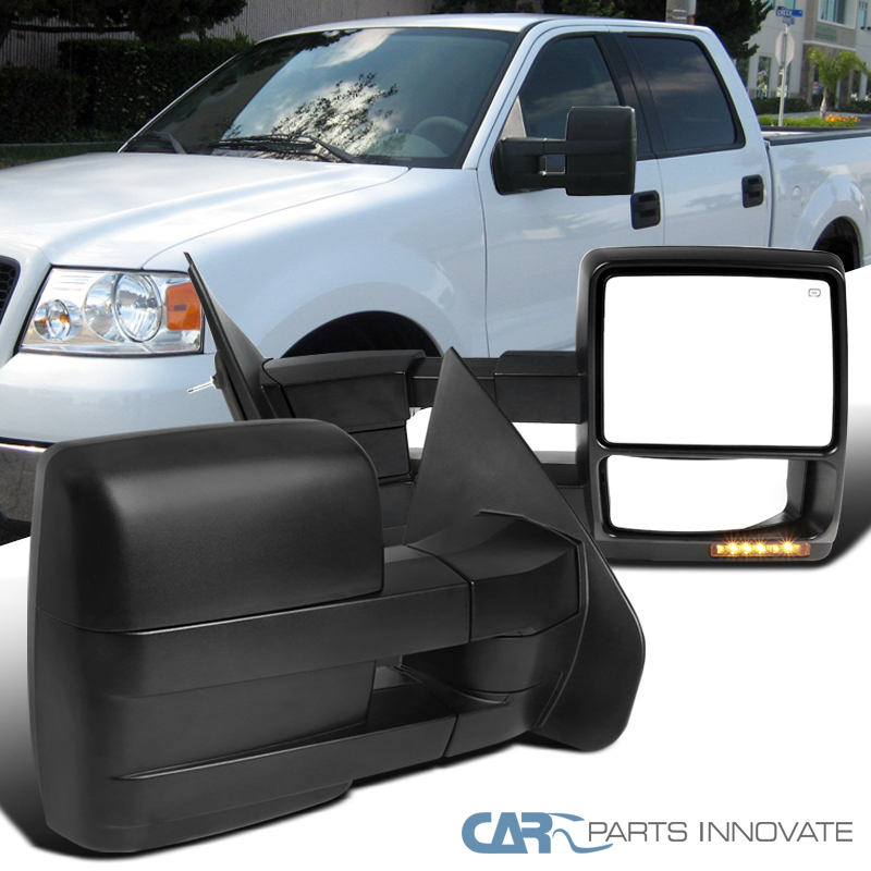 ECCPP For 2004-06 Ford F-150 Truck Pair Set Power Heated Signal Lighting Side View Towing Mirror