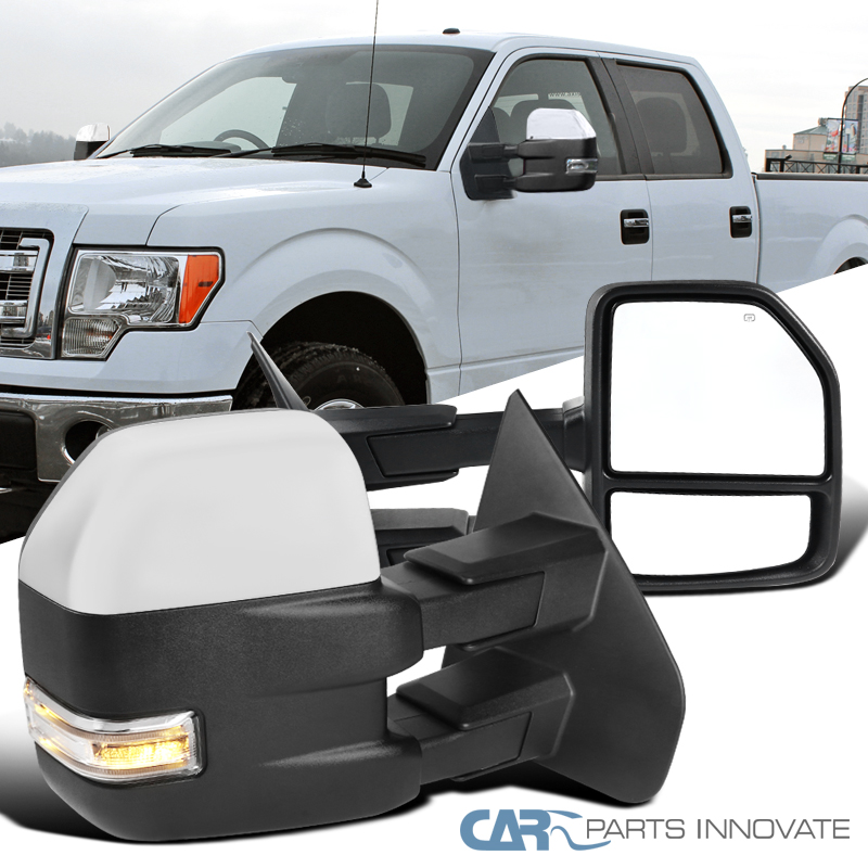 FOR 04-14 FORD F150 POWERED TOWING MIRROR W//HEATED+LED TURN SIGNAL//PUDDLE LIGHT