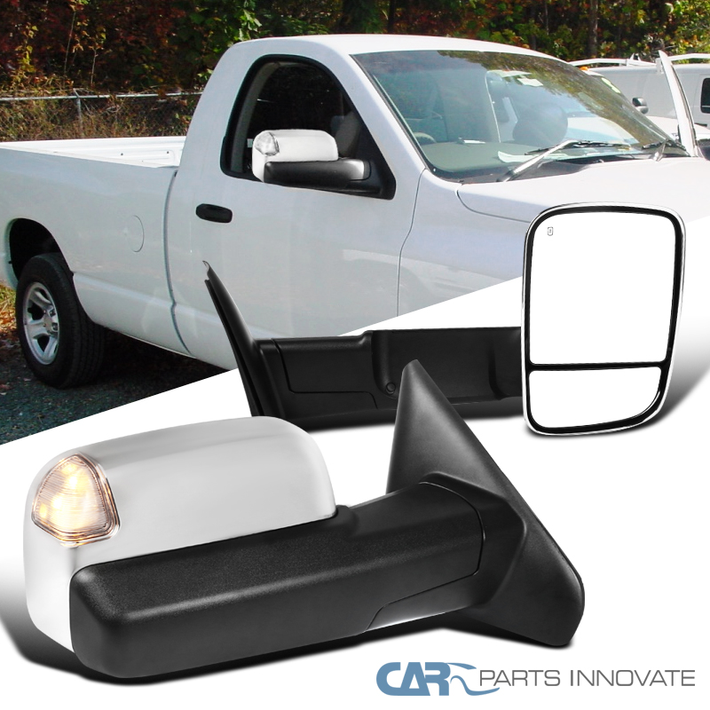 New RH Side Power Operated Chromed Smoked Towing Mirror For Dodge Ram 3500 2010