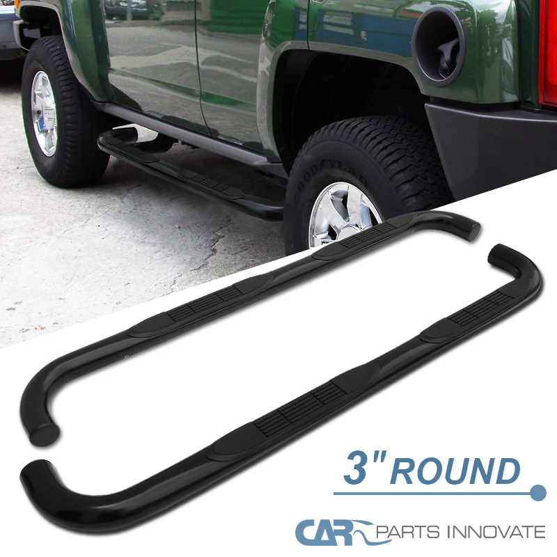 SPEC-D TUNING SSB3-H306BK-WB Hummer H3 3 Stainless Black Running Boards Side Step NERT Bar