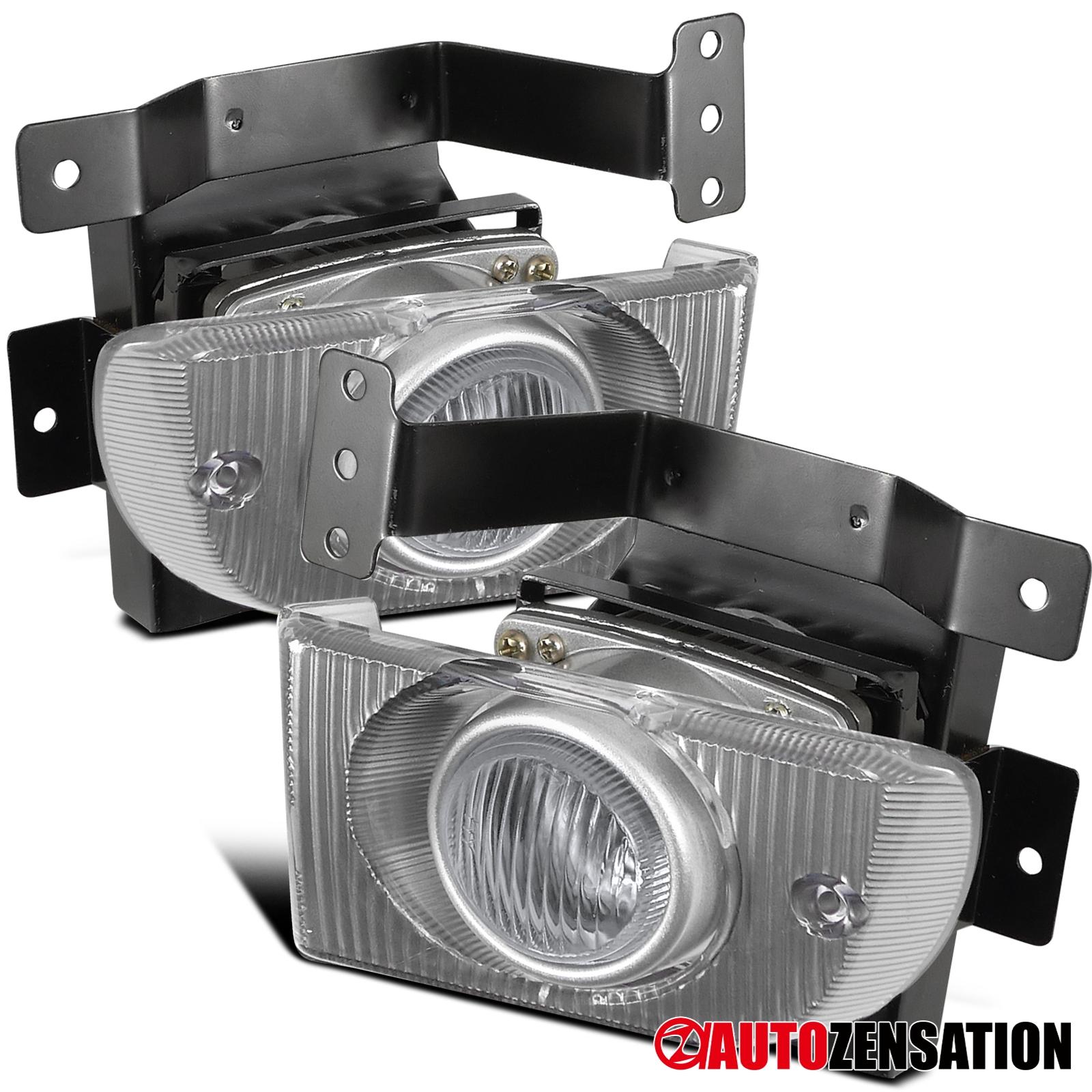 3Dr JDM Clear Lens Bumper Driving Fog Lights+Switch Fit 92-95 Honda Civic 2Dr