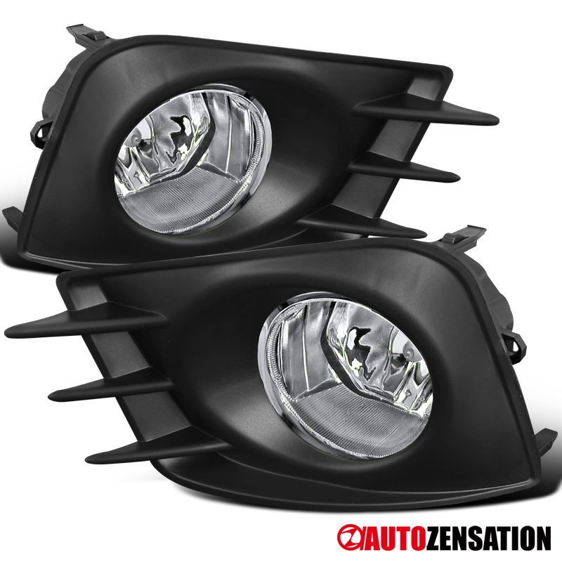 For 2011 2013 Scion Tc Clear Lens Fog Lights Bumper Lamps