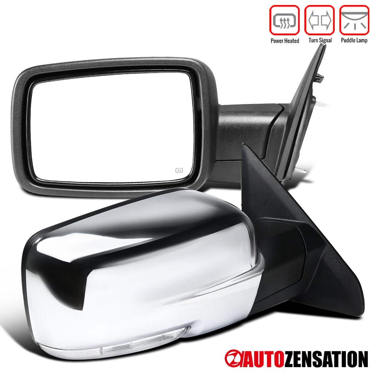 New Left//Driver Smoked Turn Signal Power Heated Mirror For Ram Trucks 2009-2012