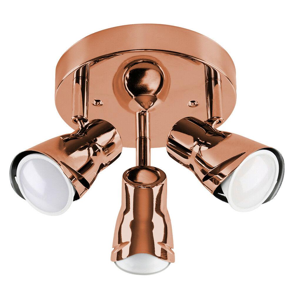 Modern-3-Way-LED-GU10-Ceiling-Spot-Lights-Spotlights-Black-Chrome-Copper-Grey thumbnail 23