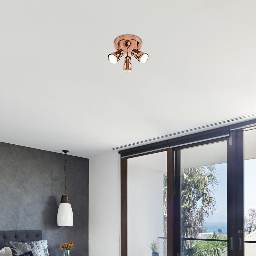 Modern-3-Way-LED-GU10-Ceiling-Spot-Lights-Spotlights-Black-Chrome-Copper-Grey thumbnail 28
