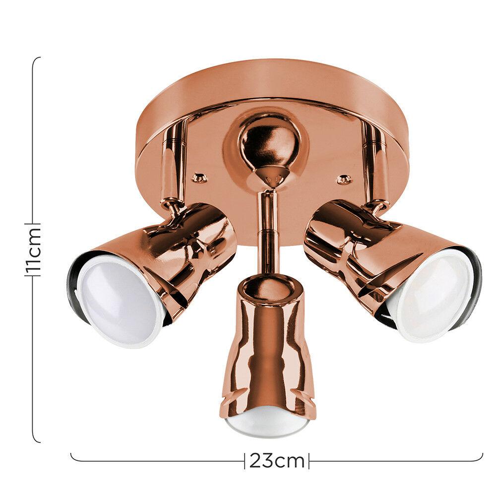 Modern-3-Way-LED-GU10-Ceiling-Spot-Lights-Spotlights-Black-Chrome-Copper-Grey thumbnail 26