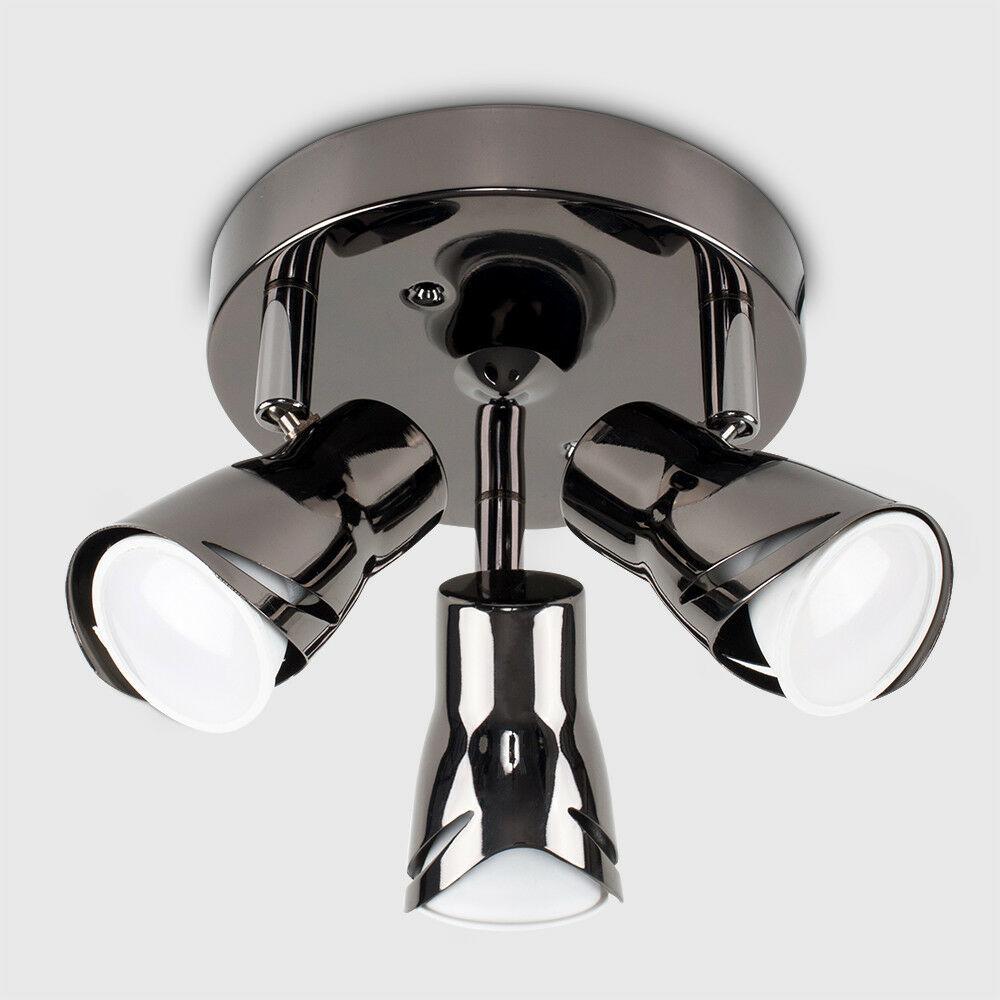 Modern-3-Way-LED-GU10-Ceiling-Spot-Lights-Spotlights-Black-Chrome-Copper-Grey thumbnail 7