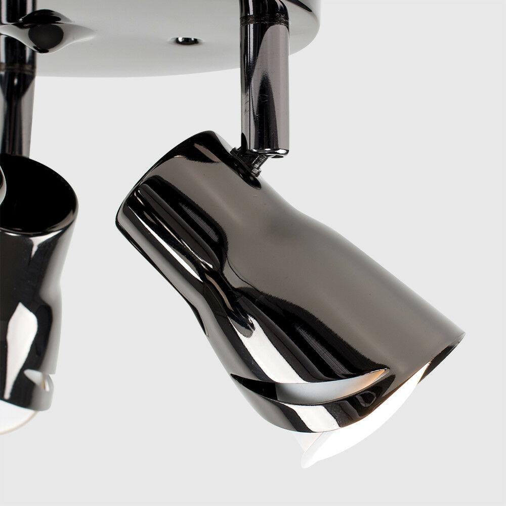 Modern-3-Way-LED-GU10-Ceiling-Spot-Lights-Spotlights-Black-Chrome-Copper-Grey thumbnail 9
